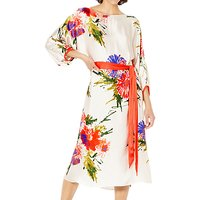 Ghost Printed Satin Viola Dress, Addison Bloom