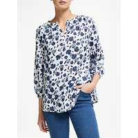 Collection WEEKEND by John Lewis Lavinia Linen Floral Shirt, White/Blue