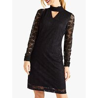 Yumi Long Sleeve Lace Dress, Black