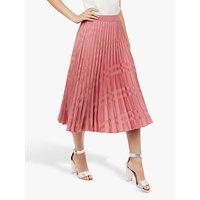Ted Baker Kkoreli Satin Midi Skirt, Pink Mid