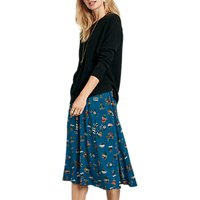 hush Lisel Floral Printed Skirt, Blue Multi