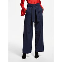 Boden Rosemoor Paperbag Trousers, Navy