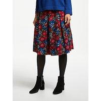 Seasalt Photo Album Print Skirt, Textred Meadow/Multi