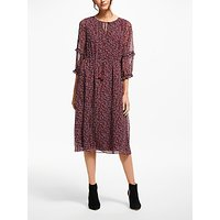Boden Iona Midi Dress, Dark Burgundy Vine