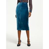 Boden Velvet Pencil Skirt