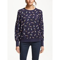 Boden Renee Shooting Star Sweatshirt, Whale Grey Star