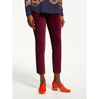Boden Velvet Straight Trousers, Red Bordeaux