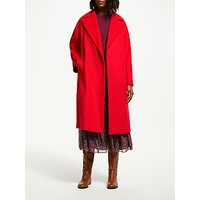 Boden Lindfield Woollen Wrap Coat, Post Box Red