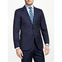 John Lewis and Partners Fine Stripe Tailored Suit Jacket, Navy