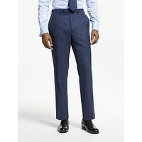 John Lewis and Partners Wool Puppytooth Slim Fit Suit Trousers, Blue