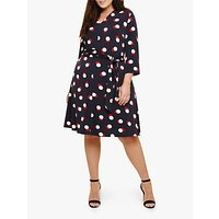 Studio 8 Anne Spot Dress, Navy/Multi