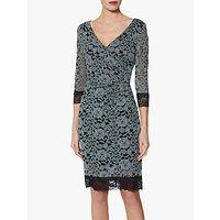 Gina Bacconi Leonie Lace Dress, Black/Grey