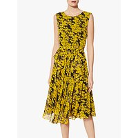Gina Bacconi Magda Chiffon Dress, Yellow