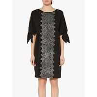 Gina Bacconi Ria Crepe And Lace Dress