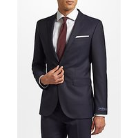 John Lewis and Partners Zegna 160s Wool Twill Half Canvas Tailored Suit Jacket, Navy