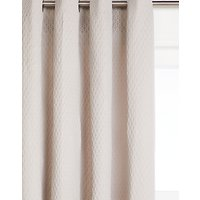 John Lewis & Partners Wellesley Pair Lined Eyelet Curtains, Silver Grey