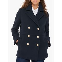 Gerard Darel Maureen Double Breasted Coat, Blue
