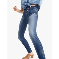 Madewell 10 High-Rise Button Front Skinny Jeans, Rosecliff Wash