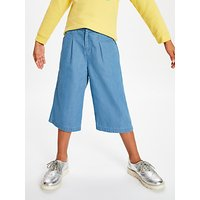 John Lewis & Partners Girls' Chambray Culottes, Blue