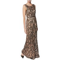 Gina Bacconi Evalie Maxi Dress, Pewter