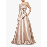 Adrianna Papell Mikado Strapless Long Dress