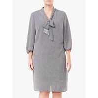 Adrianna Papell Plus Size Houndstooth Shift Dress, Black/Ivory