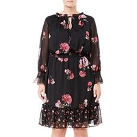 Adrianna Papell Plus Size Loving Floral Dress, Black