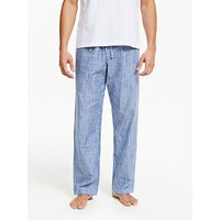 John Lewis and Partners Chambray Wash Striped Lounge Pants