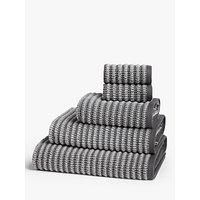 John Lewis & Partners Textured Stripe Towels