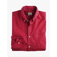 J.Crew Stretch Secret Wash Solid Poplin Shirt, Burgundy