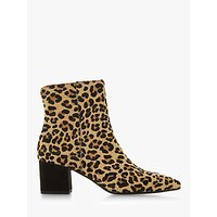 shop for Dune Omarii Block Heel Ankle Boots, Leopard at Shopo