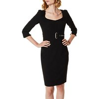 Karen Millen Corsetry Waist Pencil Dress, Black