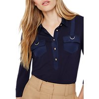 Damsel in a dress Marni Trench Jersey Top, Navy