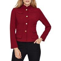 Damsel in a Dress Daria Pocket Jacket, Burgundy