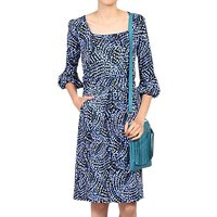 shop for Jolie Moi Balloon Sleeve Dress, Blue/Multi at Shopo