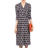 shop for Jolie Moi Wrap Front Dress, Black/Multi at Shopo