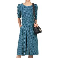 Jolie Moi Half Sleeve Dress, Blue Pattern