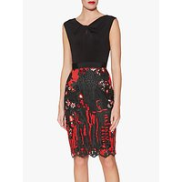Gina Bacconi Louise Embroidered Dress, Black