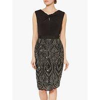 Gina Bacconi Maize Sequin Dress, Black