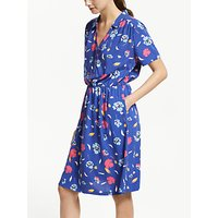 Collection WEEKEND by John Lewis Poppy Silhouette Print Dress, Blue