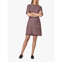 L.K.Bennett Danna Tweed Mix Dress, Red/Multi