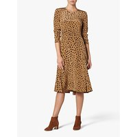 L.K.Bennett Leanie Animal Print Silk Midi Dress, Pri-Animal Brown