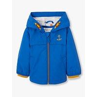 John Lewis & Partners Baby Anchor Badge Jacket, Blue