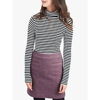 Joules Sheridan Tweed Skirt, Lilac Tweed