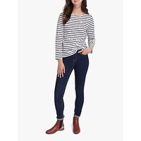 Joules Harbour Cotton Jersey Star Top, Black/White