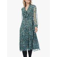 Brora Liberty Floral Bow Silk Dress, Verdigris