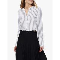 Brora Graphic Stripe Tunic Dress, Ivory/black