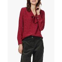 Brora Polka Dot Silk Shirt, Ruby Spot