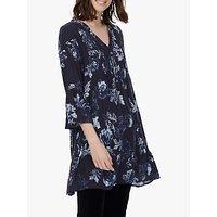 Brora Floral Tunic Dress, Navy/sea Salt