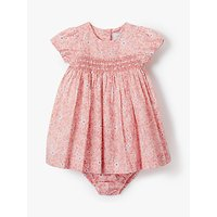 John Lewis and Partners Heirloom Collection Ditsy Floral Dress and Knickers Set, Pink